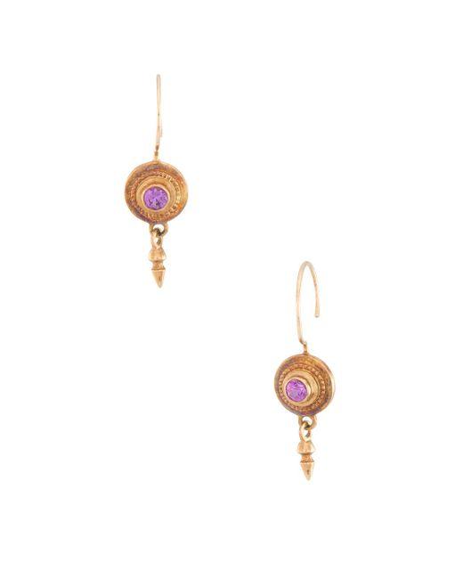 Estate Fine Jewelry - Yellow Etruscan Style Drop Earrings - Lyst