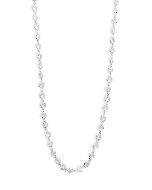 Saks Fifth Avenue - Metallic Cubic Zirconia Goldtone Necklace - Lyst