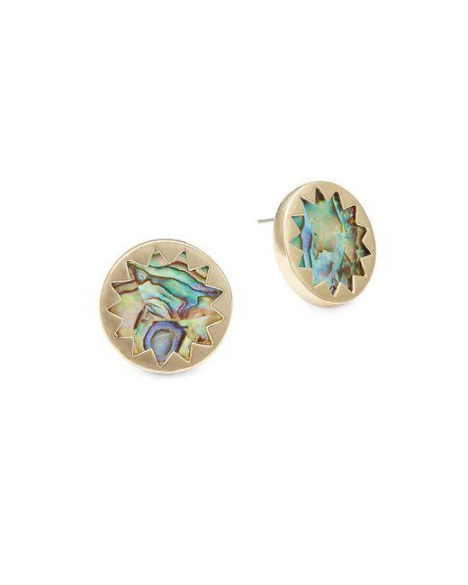 House of Harlow 1960 - Sunburst Metallic Post Earrings - Lyst