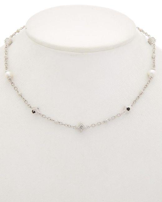 Judith Ripka - Metallic Renaissance Silver 11.68 Ct. Tw. Gemstone & 7-7.5mm Pearl Necklace - Lyst