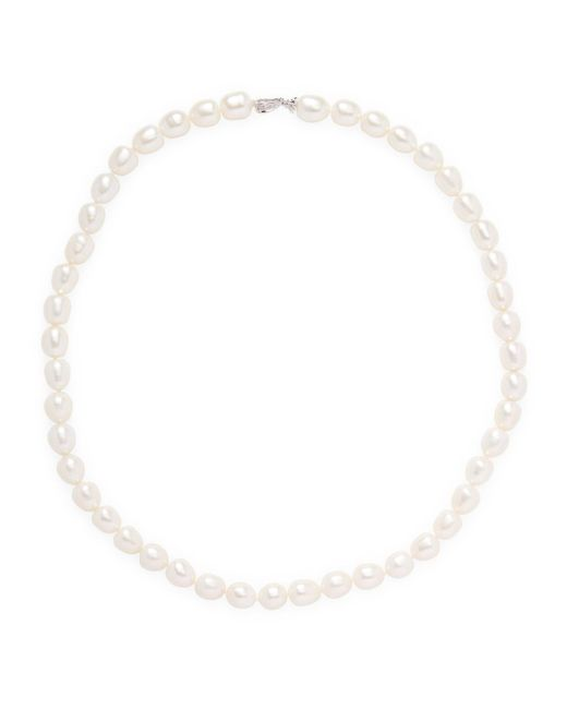 Belpearl - 14k White Gold Diamond And Pearl Necklace - Lyst