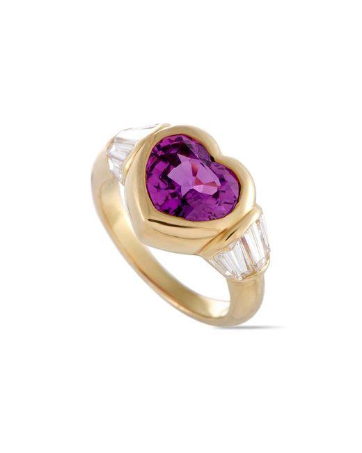 BVLGARI Multicolor Bulgari 18k 4.37 Ct. Tw. Diamond & Sapphire Ring