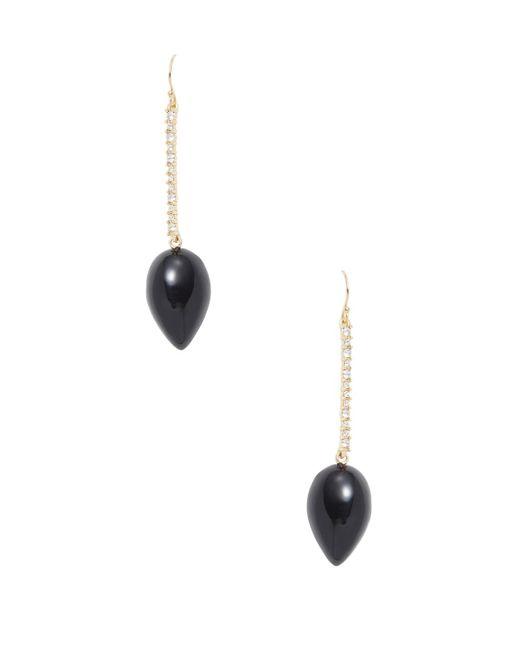 Alexis Bittar - Black Lucite Encrusted Liquid Silk Drop Earrings - Lyst