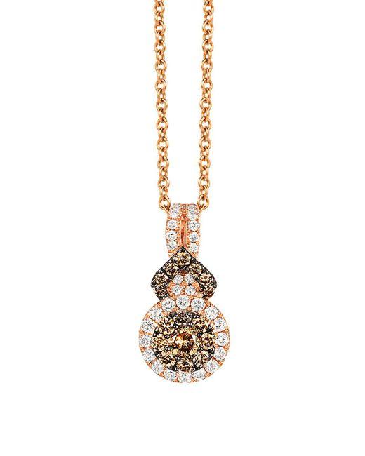 Le Vian - Metallic Chocolatier Diamond And 14k Strawberry Gold Pendant Necklace - Lyst