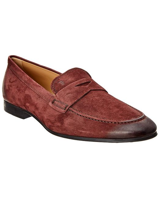 3f0727a7802 Tod s - Purple Suede Penny Loafer for Men - Lyst ...