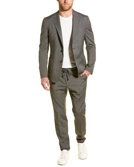 Ermenegildo Zegna Gray Z Zenga Techmerino Wash&go 2pc Wool Suit With Flat Pant for men