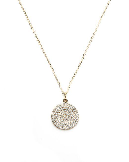 Nephora - Metallic 14k Yellow Gold & Diamond Disc Pendant Necklace - Lyst
