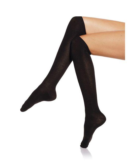 Hue - Black Flat Knit Knee Socks Set - Lyst