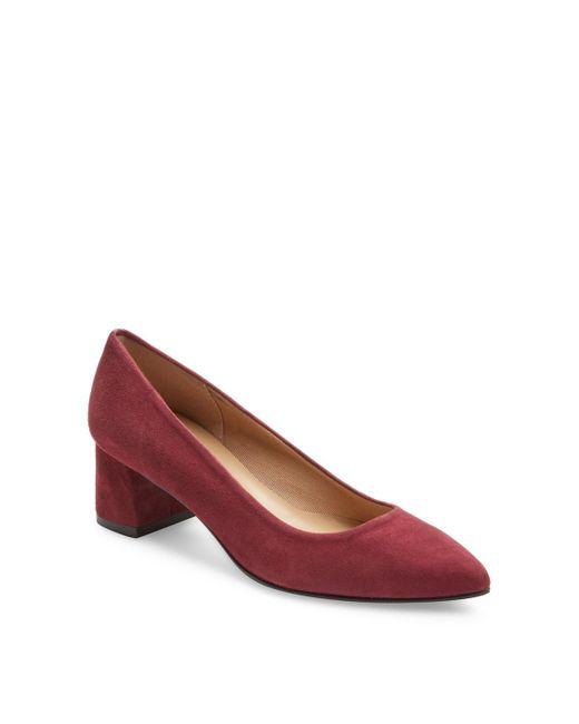 French Sole - Red Amethyst Mid Heel Pump - Lyst