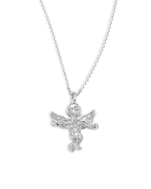 KC Designs | Metallic Diamond & 14k White Gold Angel Pendant Necklace | Lyst