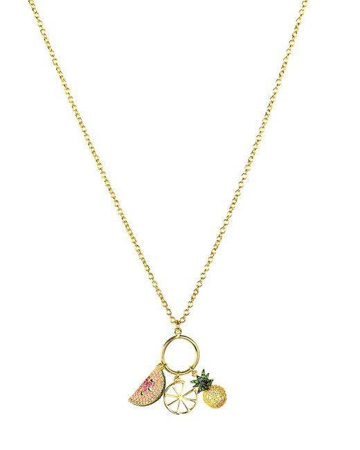 Noir Jewelry - Metallic Sao Paulo Tropical Charm Cz Pendant Necklace - Lyst