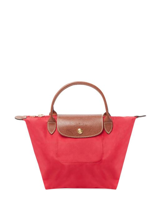 Longchamp - Red Le Pliage Nylon Small Top Handle - Lyst