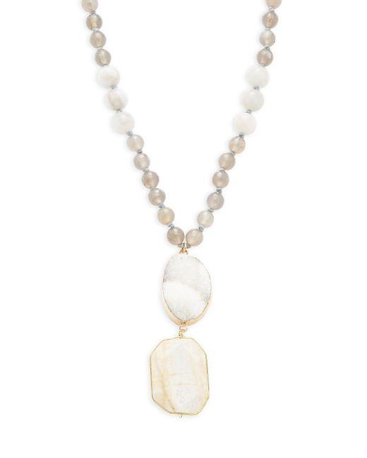 Panacea - Multicolor Stone Bead Pendant Necklace - Lyst