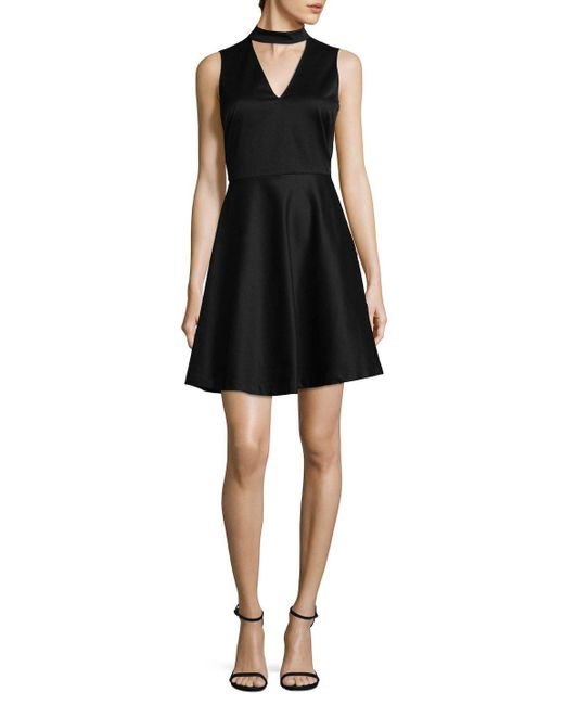 Armani Exchange - Black Choker Fit-and-flare - Lyst