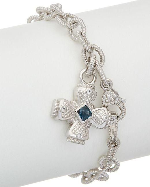 Judith Ripka - Metallic Silver 0.56 Ct. Tw. Gemstone Bracelet - Lyst