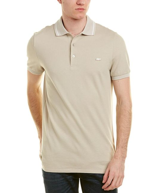 Burberry - Natural Check Placket Cotton Pique Polo Shirt for Men - Lyst