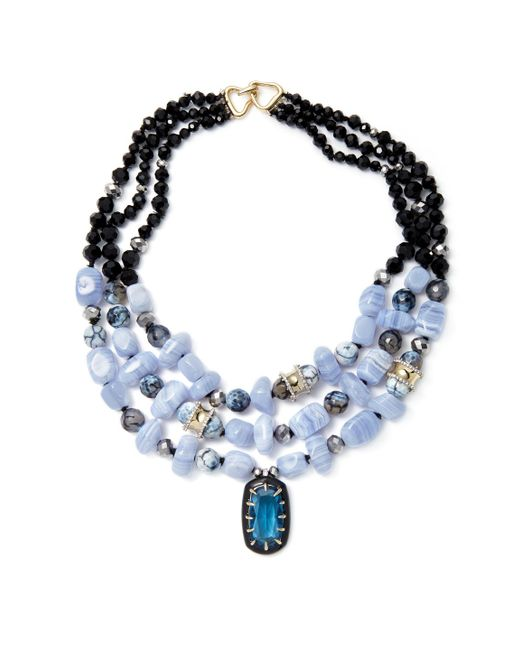 Alexis Bittar | Blue Elements Multi Strand Stone Bib Collar Necklace | Lyst