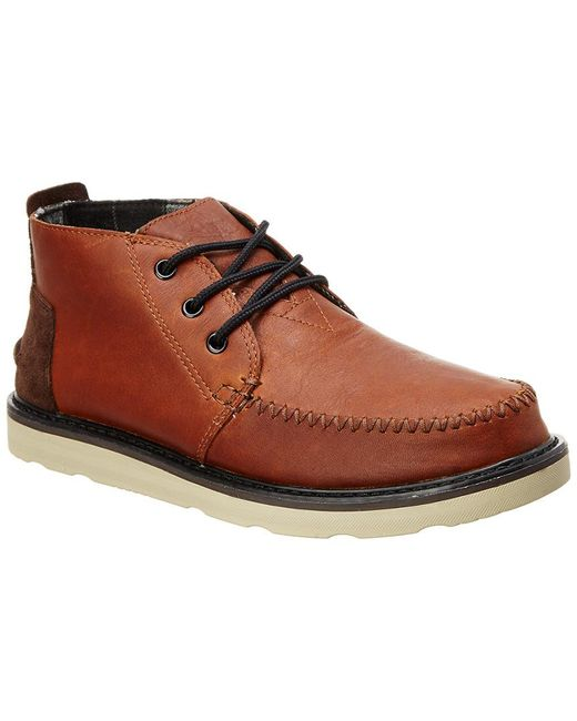 TOMS - Brown Men's Leather Chukka Boot for Men - Lyst