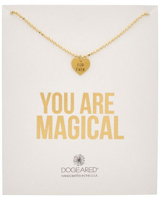 Dogeared - Metallic 14k Over Silver You Are Magical Forever Necklace - Lyst