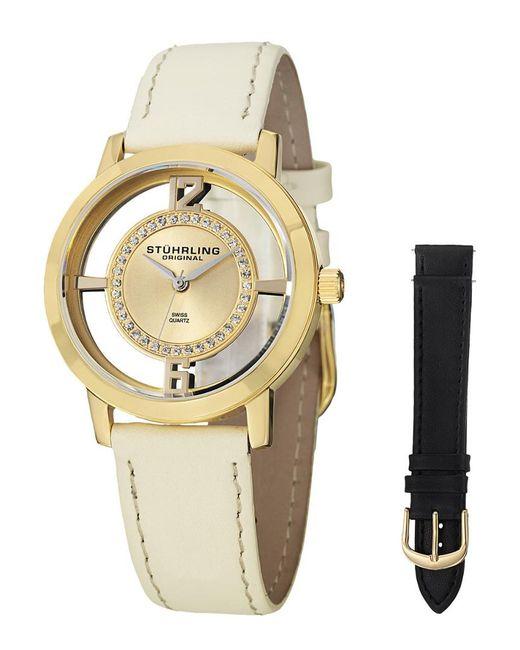 Stuhrling Original - Metallic Stuhrling Women's Vogue Genuine Leather Interchangeable Strap Watch - Lyst
