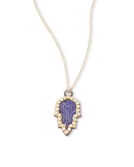 Armenta | Metallic Old World Champagne Diamond, 18k Yellow Gold & Sterling Silver Pendant Necklace | Lyst