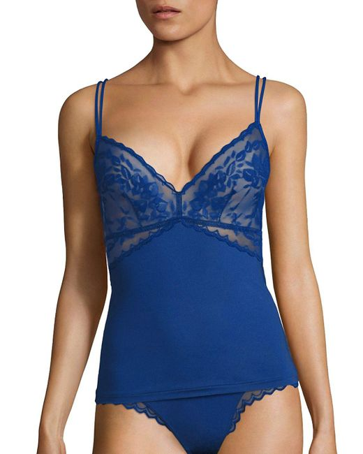 Cosabella - Blue Cosmopolitan Lace-trimmed Lounge Camisole - Lyst
