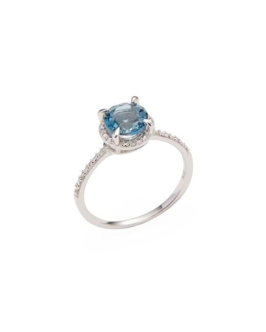 Rina Limor | Blue London Topaz Halo Ring | Lyst