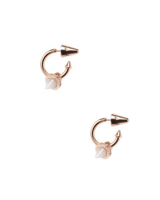 Eddie Borgo - Metallic Gemstone Cone Charm Hoop Earrings - Lyst