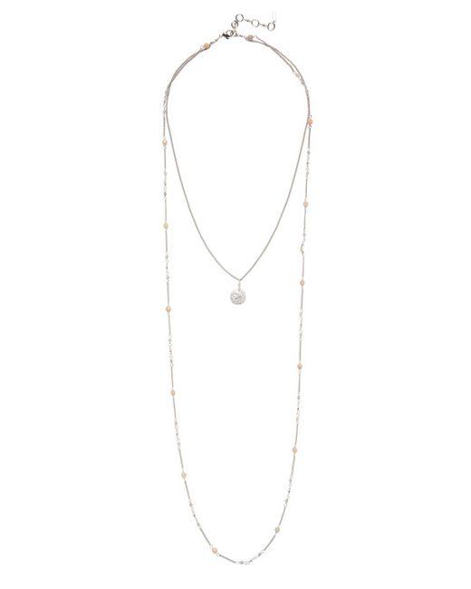 Chan Luu - Metallic Semi-precious Two-chain Bib Drop Necklace - Lyst