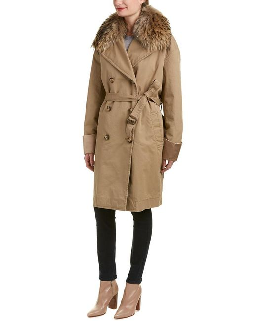 Moncler - Brown Coat - Lyst