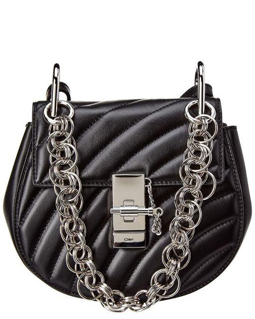 Chloé Black Drew Bijou Mini Quilted Leather Crossbody