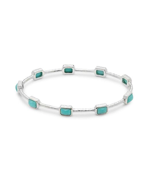Ippolita - Metallic Rock Candy Turquoise & Sterling Silver Bangle - Lyst