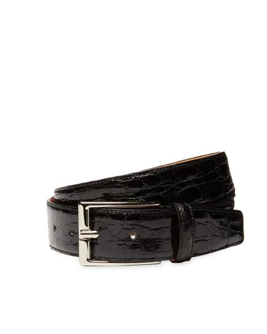 Leone Braconi   Black Crocodile Leather Belt for Men   Lyst