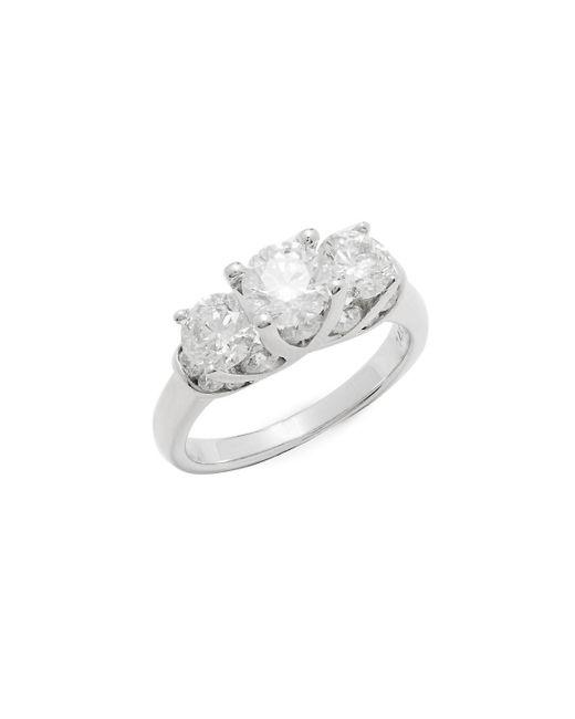 Saks Fifth Avenue | Metallic 3.0 Tcw Diamond & 14k White Gold Ring | Lyst
