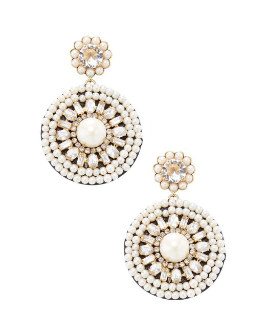 Kate Spade - Metallic Gold -plated Metal And Leather Statement Earrings - Lyst
