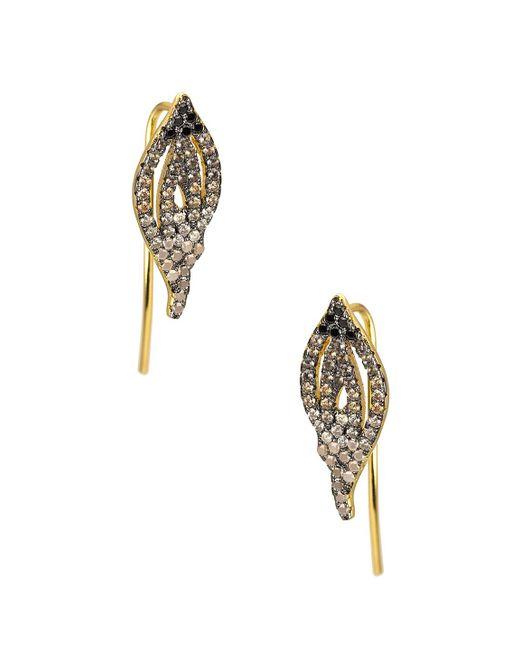 Noir Jewelry - Metallic Sao Paulo Flame Cz Ear Jackets - Lyst
