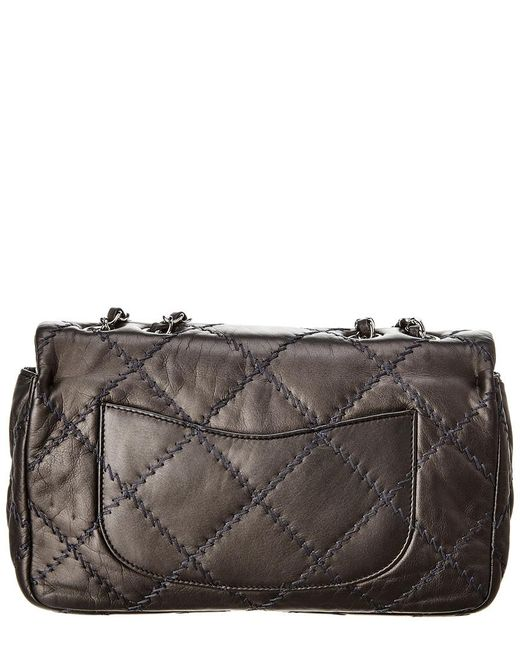 2ae83062096a ... Chanel - Gray Grey Quilted Lambskin Leather Ultimate Stitch Medium Flap  Bag - Lyst ...