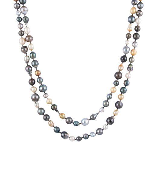 Masako Pearls | Metallic Tahitian & South Sea Pearl Necklace | Lyst