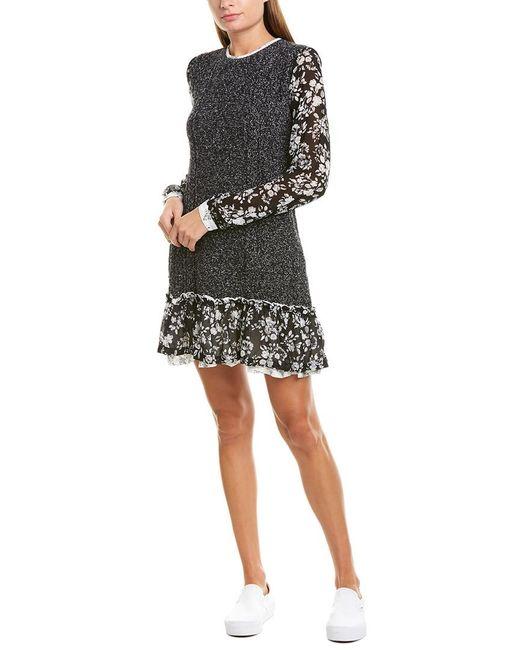 Twin Set Black Twinset Cable-knit Wool Sweaterdress