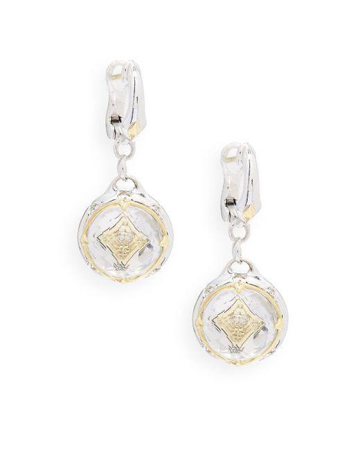 Judith Ripka | Metallic Windrose Diamond, Rock Crystal & Sterling Silver Drop Earrings | Lyst