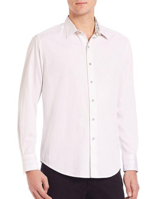 Robert Graham - White Volcanic Rock Woven Cotton Shirt for Men - Lyst