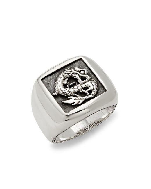 John Hardy - Metallic Legends Naga Sterling Silver Ring - Lyst