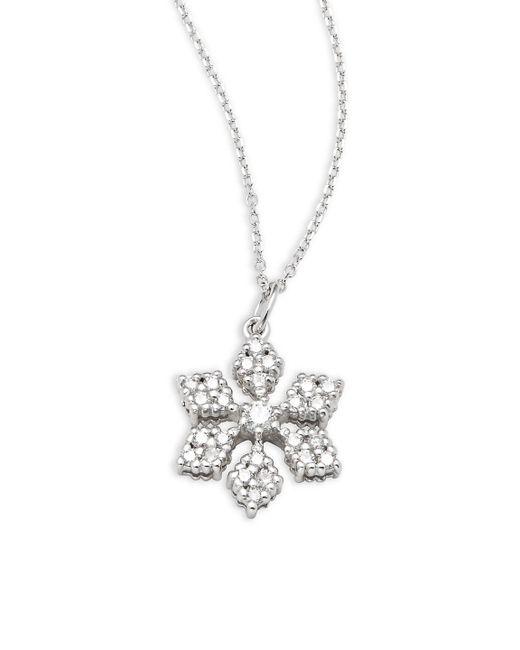 Lyst kc designs diamond 14k white gold snowflake pendant kc designs metallic diamond 14k white gold snowflake pendant necklace aloadofball Images