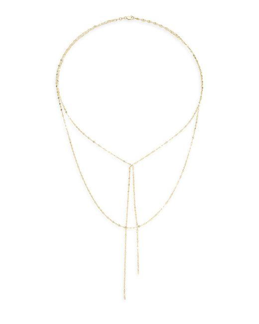 Saks Fifth Avenue - Metallic 14k Yellow Gold Double Layered Necklace - Lyst