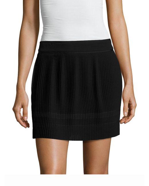 SemSem - Black Maryam Silk Pleated Skirt - Lyst