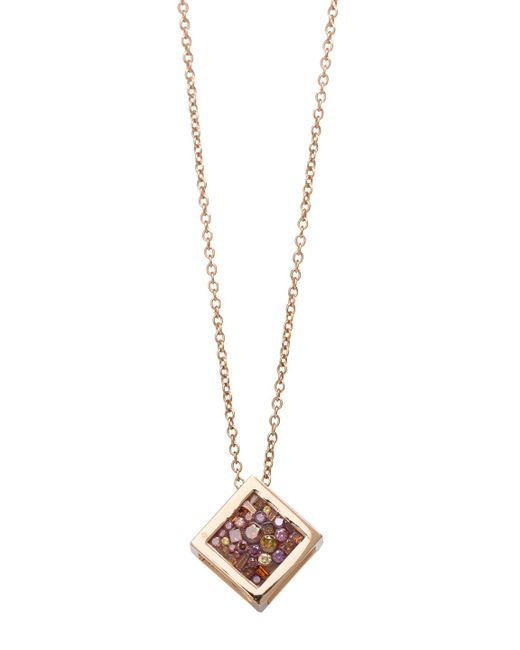 Plevé - Metallic Berry Small Cube 18k Rose Gold Pendant Necklace - Lyst