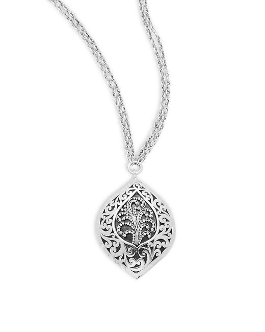 Lois Hill - Metallic Sterling Silver Cutout Pendant Necklace - Lyst