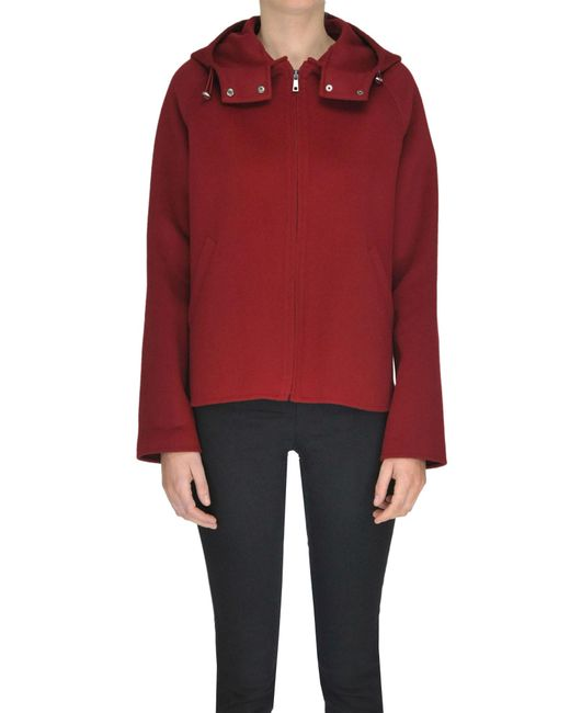 P.A.R.O.S.H. - Red Wool Cloth Jacket - Lyst