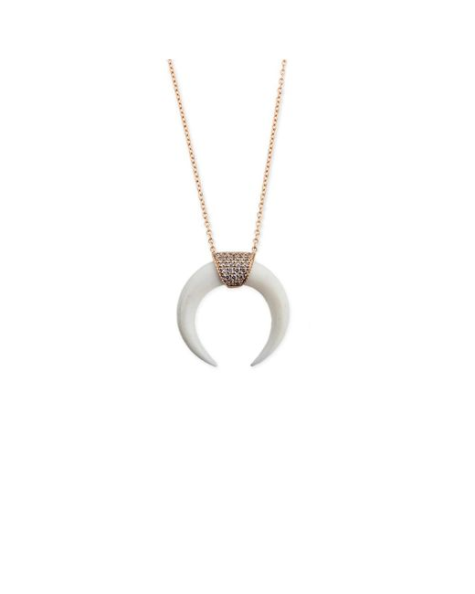 Jacquie Aiche - Metallic Double Bone Horn Necklace - Lyst