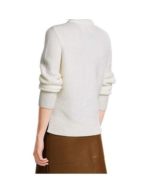 Rag & bone Ginnie Ivory Pullover Sweater in White | Lyst